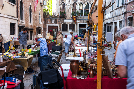 flea market: Flea Market in Venice Editorial