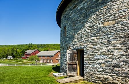 hancock: Old stone barn in the shaker village, Hancock, Massachusetts Stock Photo