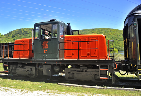 berkshire: Old locomotive makes its way on the Berkshire Scenic Railroad. Editorial