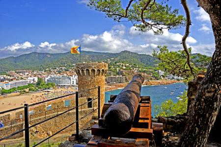 Medieval walled town Vila Vella in Tossa de Mar, Catalonia