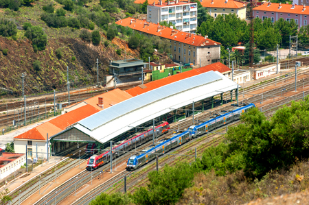 Train station in the town of Cerbere, Southern France