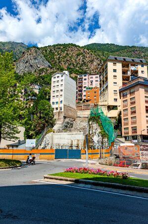 Andorra La Vella, Andorra - August 5, 2014: Street scene in downtown of the capitol of Andorra