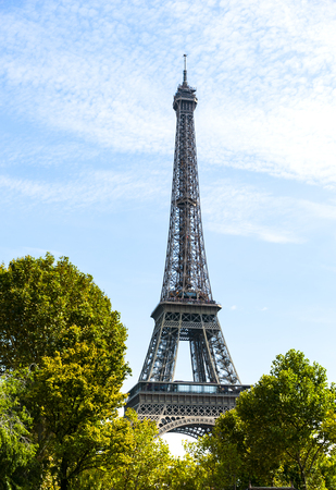 View of the Eiffel Tower in Paris from Trocadero