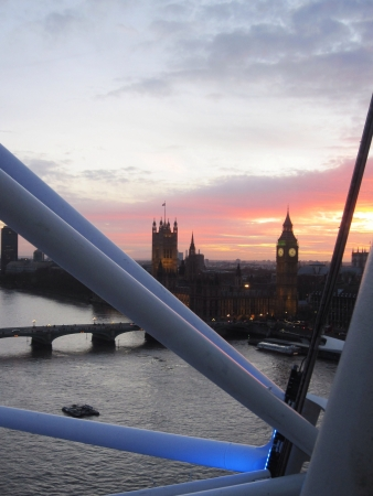 eye: View of Big Ben and parliament from London Eye, London Stock Photo