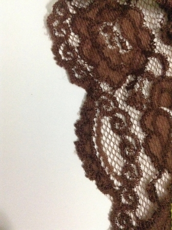 Brown lace on white background Stock Photo