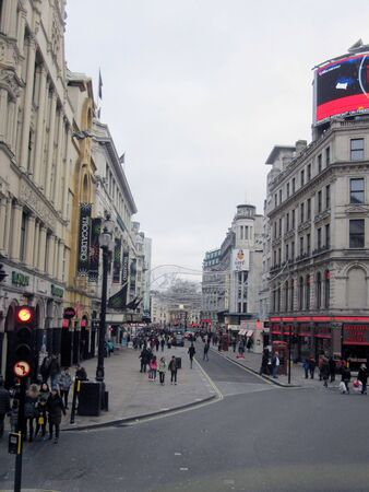 piccadilly: Musical street in Piccadilly Circus, London, England Stock Photo