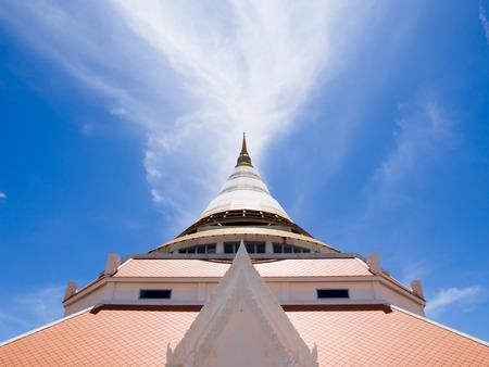brighten: Brighten sky over a pagoda Thailand Stock Photo
