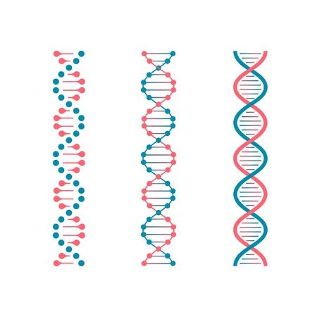 ADN del código de química. Doble código genético de la molécula humana. Conjunto de vectores futuros de biotecnología