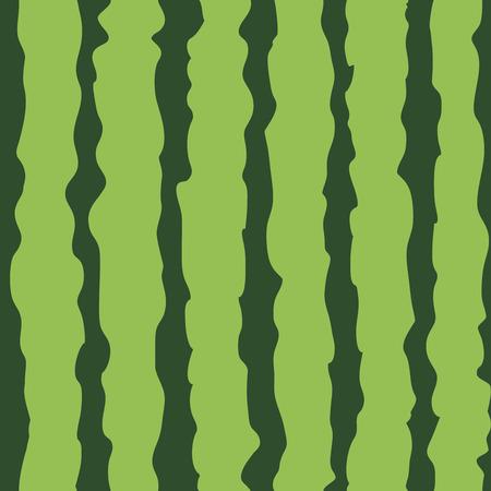 Nahtloses Muster der Wassermelone. Vektor-Illustration von Wassermelonen-Cartoon-Muster. Wiederholen Sie Streifen grüne Farben Retro-Hintergrund Vektorgrafik