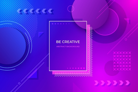 Abstract geometric background. Futuristic gradient design shapes for posters banners flyers. Minimal vector dynamic colorful geometry