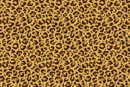 Nahtloser Leopardendruck. Gepard Jaguar exotisches Tierhautmuster, Luxusmodetapete. Vektor-Textilleoparden-Druckdesign Vektorgrafik