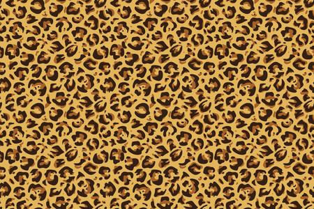 Stampa leopardata senza cuciture. Modello di pelle di animale esotico giaguaro ghepardo, carta da parati di moda di lusso. Disegno di stampa di leopardi tessili vettoriali Vettoriali