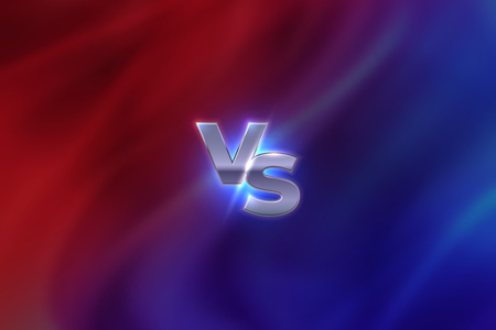 Versus concept. VS letters sport competition emblem, game battle concept, MMA banner screen. Vector versus colouring abstract template