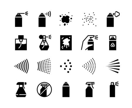 Cleaning line icons. Laundry wash and hygiene outline pictograms, window brush bucket with water and soap. Vector illustration isolated set cleaners and spray symbols for mopping service