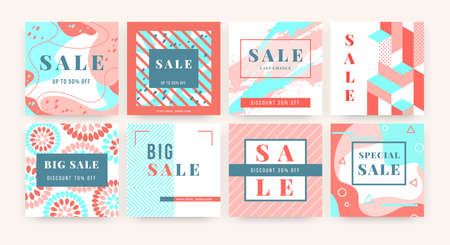 Special offer banner. Square promo sale template, lower price advertising layout, online flyer. Vector image social media posters set for promotion special advertisement or product Stockfoto - 151756933