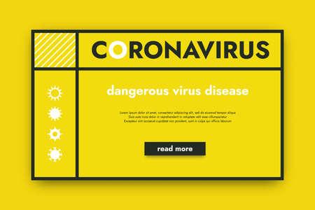 Coronavirus background. 2019-NCOV dangerous virus disease poster.