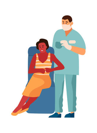 Dentist and patient in dental clinic. Woman and stomatology doctor or other medical specialists. Hygiene and medicine tooth care, professional diagnostic in hospital.