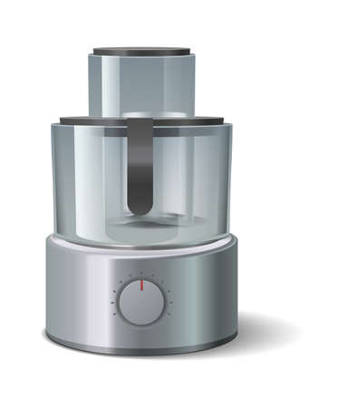 Blender. Kitchen appliance. Realistic domestic electronic household device. Cuisine steel, chrome equipment for blend and mix. Isolated handle cooking machine advertising.