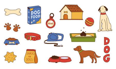 Dog supplies. Doodle pet shop assortment.