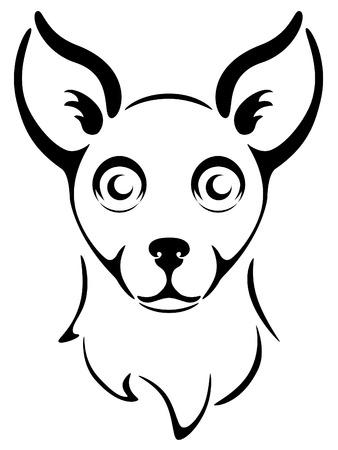 chi: Tribal design of a Chihuahua head