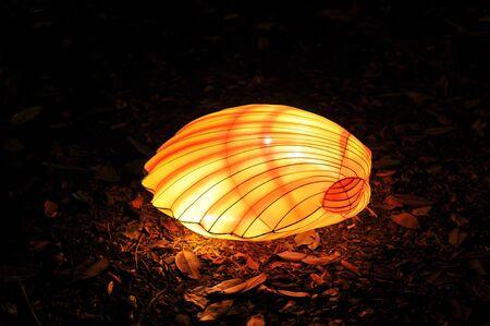 Chinese lantern festival sea shell closed Stock Photo