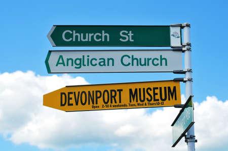 street signs: Street signs in Devonport, Auckland, New Zealand