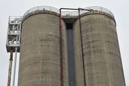 silo: Concrete industrial double silo.