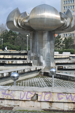 public space: Bratislava Square of liberty showing deterioration of the public space. Editorial