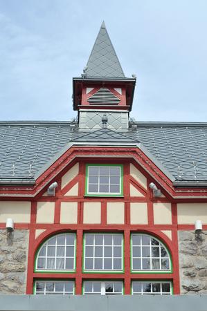 architectural details: Architectural details of Grand Hotel Kempinsky in High Tatras. Editorial