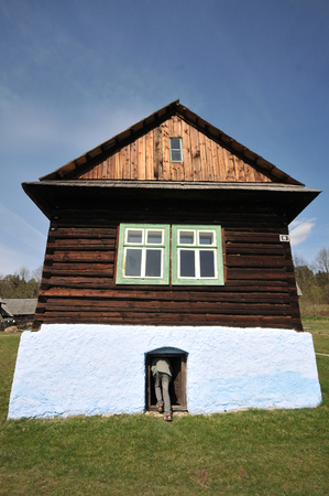 Old log house in Stara Lubovna open air museum.