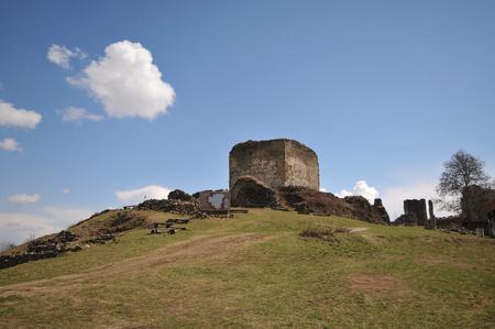 Ruins of Saris castle inner castle.