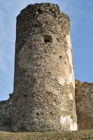 Ruins of Saris castle defence tower.