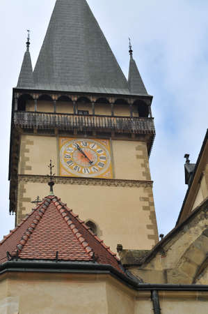 Bardejov main tower with clock of St Gilles basilica