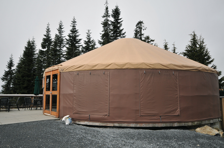 dwell: Large modern yurt in Vancouver Grouse Mountain.