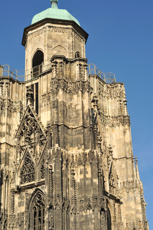 Wien detail of St Stephen cathedral. Stock Photo