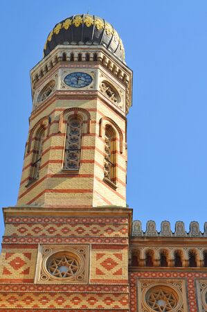 jewish: Budapest Jewish synagogue in oriental style. Stock Photo