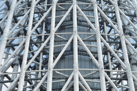 metal structure: Complex metal support structure of Tokyo Skytree tower.