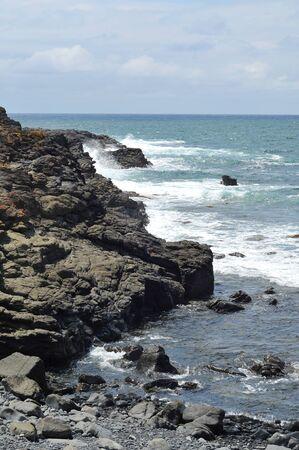 kiama: Rocky shoreline near Kiama.
