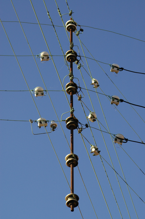 electric grid: Electricity wires and isolators