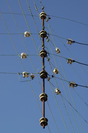 isolators: Electricity wires and isolators