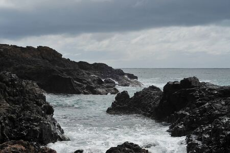 kiama: Rocky coast near Kiama. Stock Photo