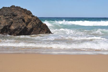 tasman: Waves on the Tasman sea breaking on the NSW shore.