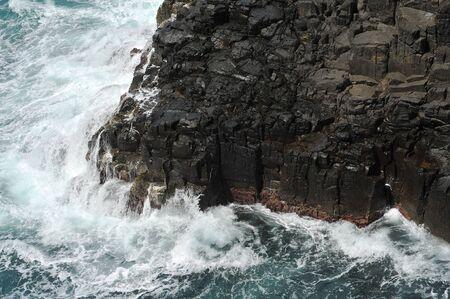 kiama: Waves crashing on volcanic cliffs.