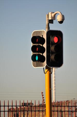 ip camera: Yellow Traffic Light with IP Camera