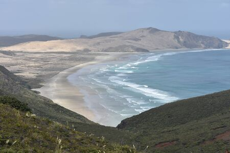 shorelines: Coastal areas of most northern part on new Zealand at Cape Reinga. Stock Photo