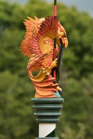 Statue of eagle-like royal beast from England of Tudor era.