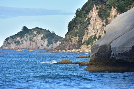 The rocky coast of Coromandel