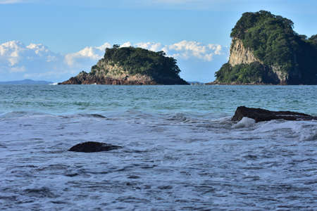 Small islands off the coast of Coromandel Stock Photo
