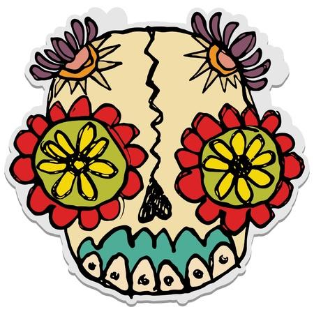 skull and flowers: cr�neo de az�car