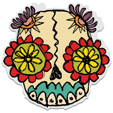 sugar skull Stock Vector - 9363077